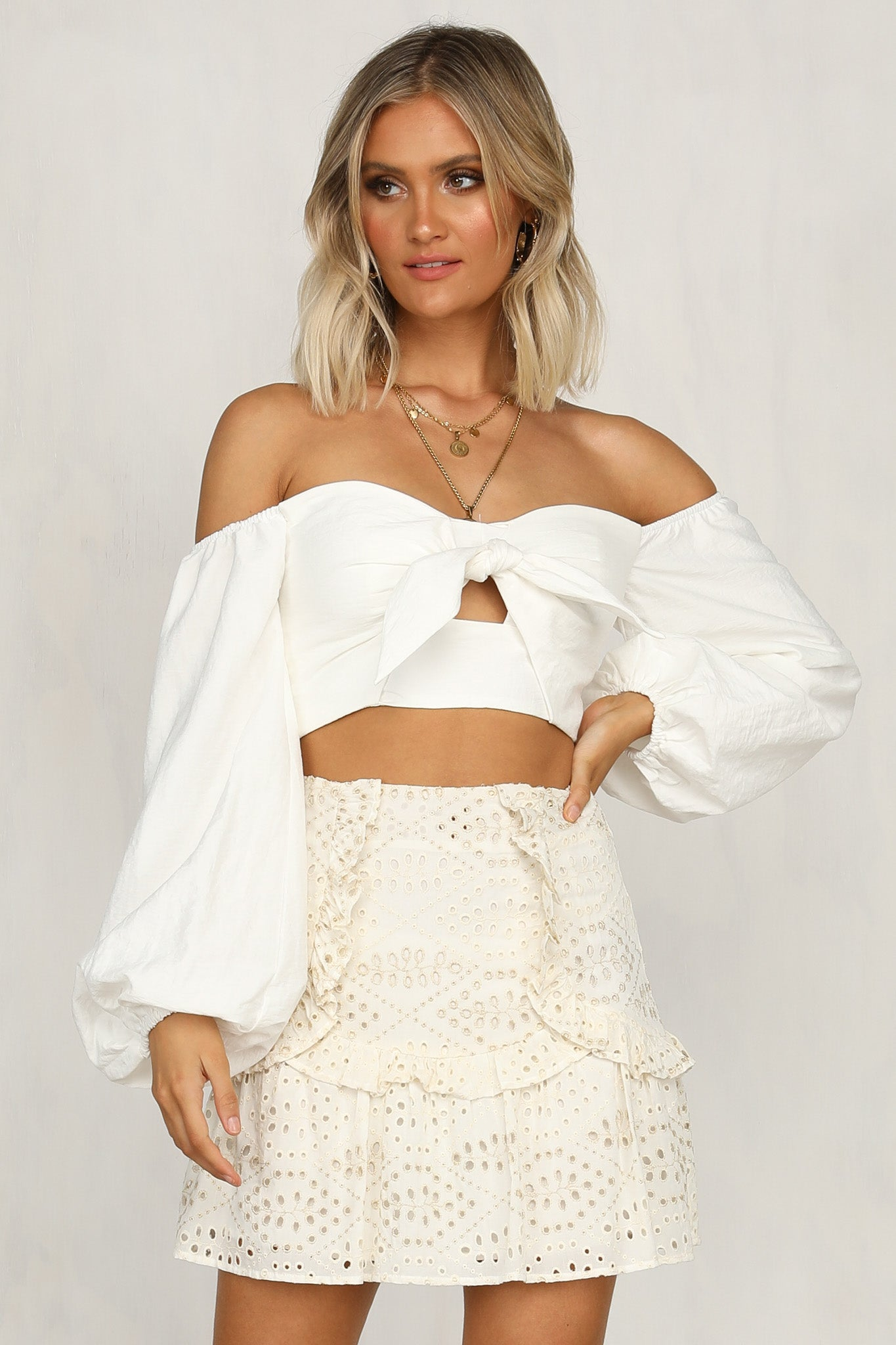 All The Lovers Top (White)