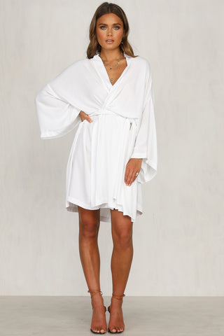 Divine Wrap Dress (White)