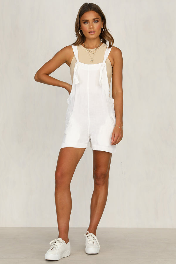 band wagon white playsuit