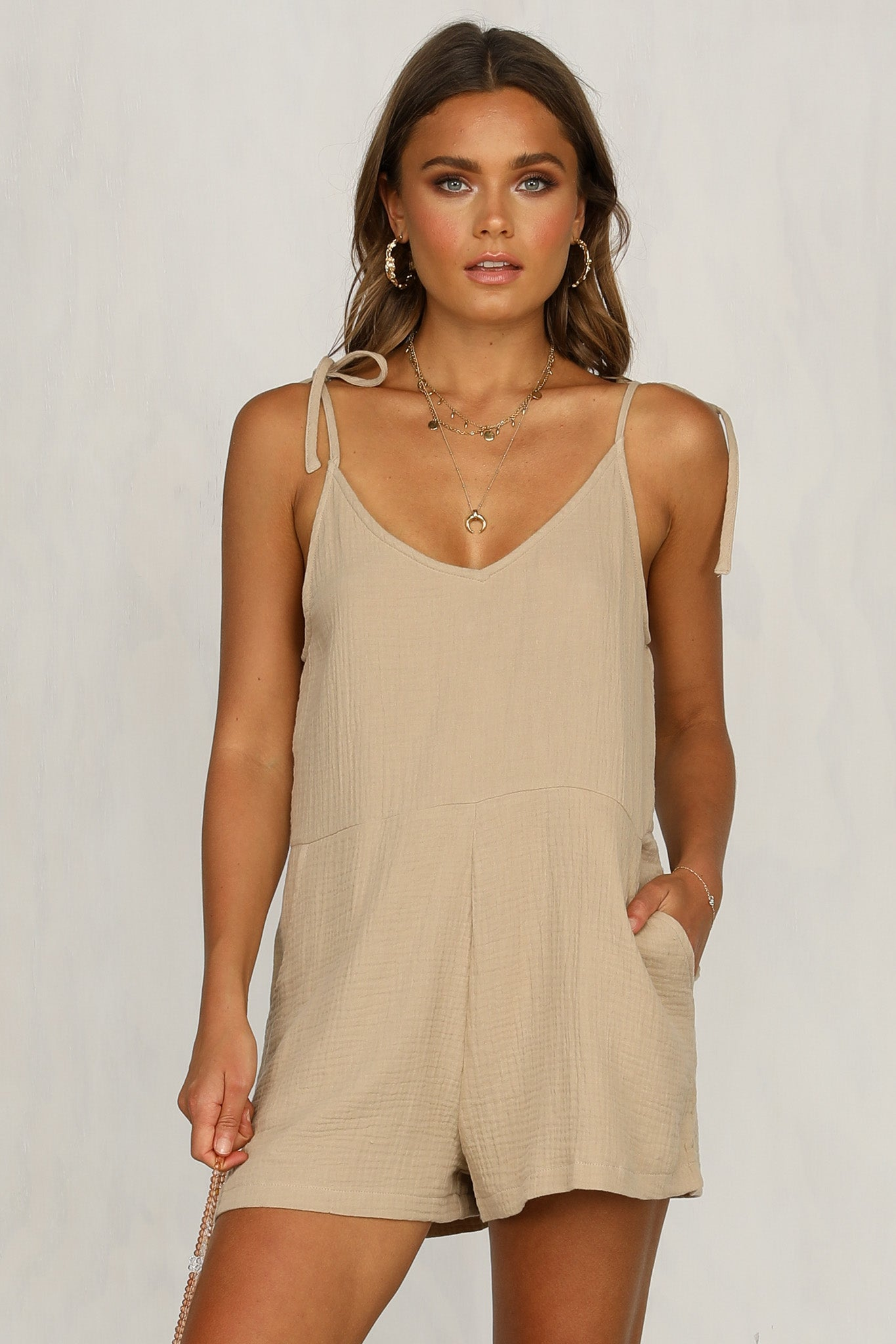 Forest Playsuit (Sand)