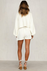 Chantelle Knit Shorts (White)