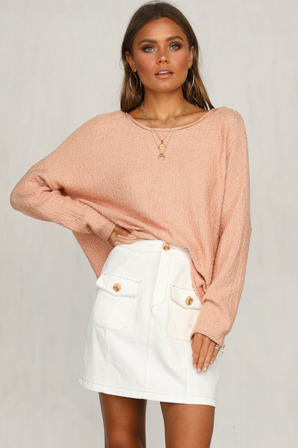 Fall In Knit (Peach)