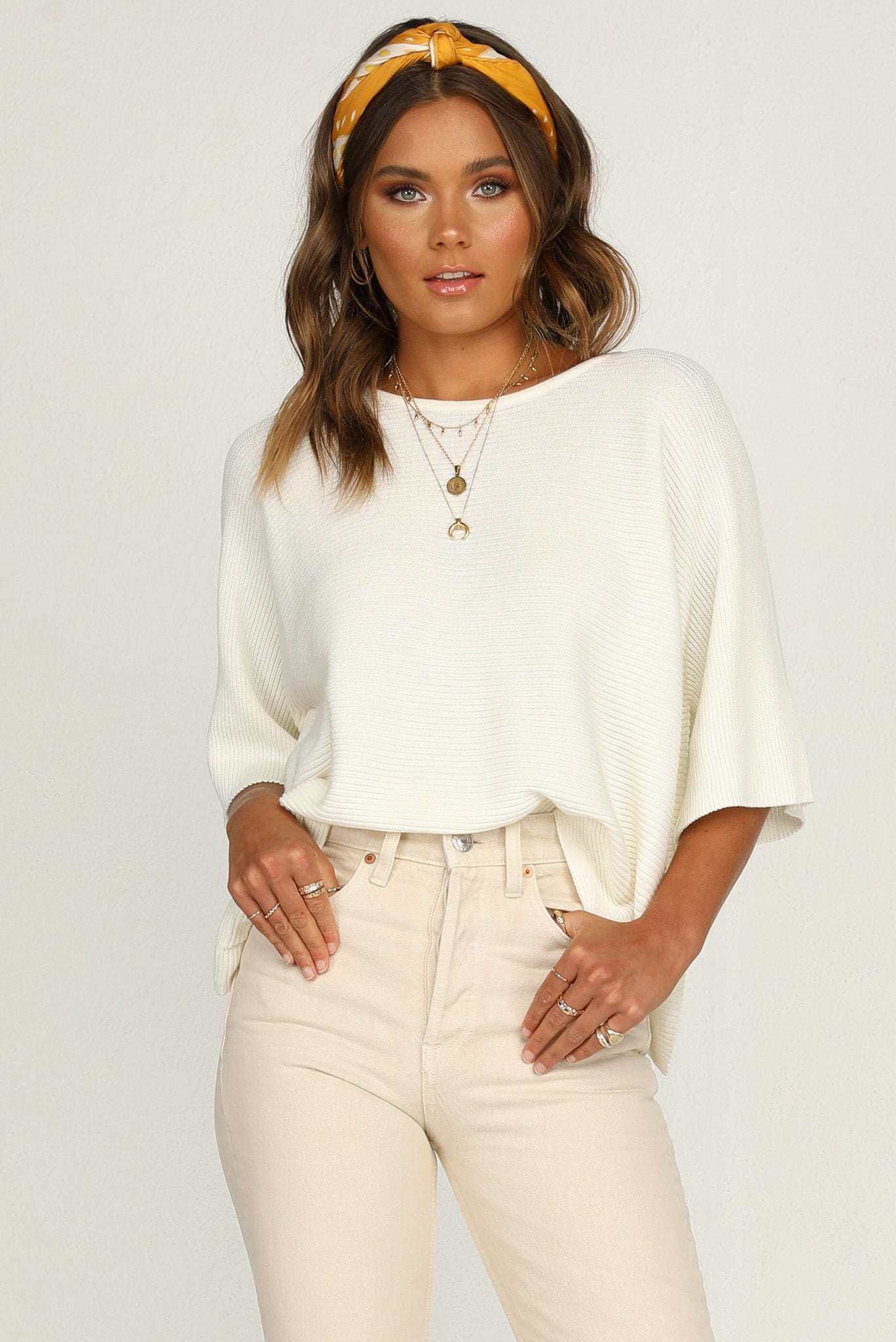 Mae Knit Top (Ivory)