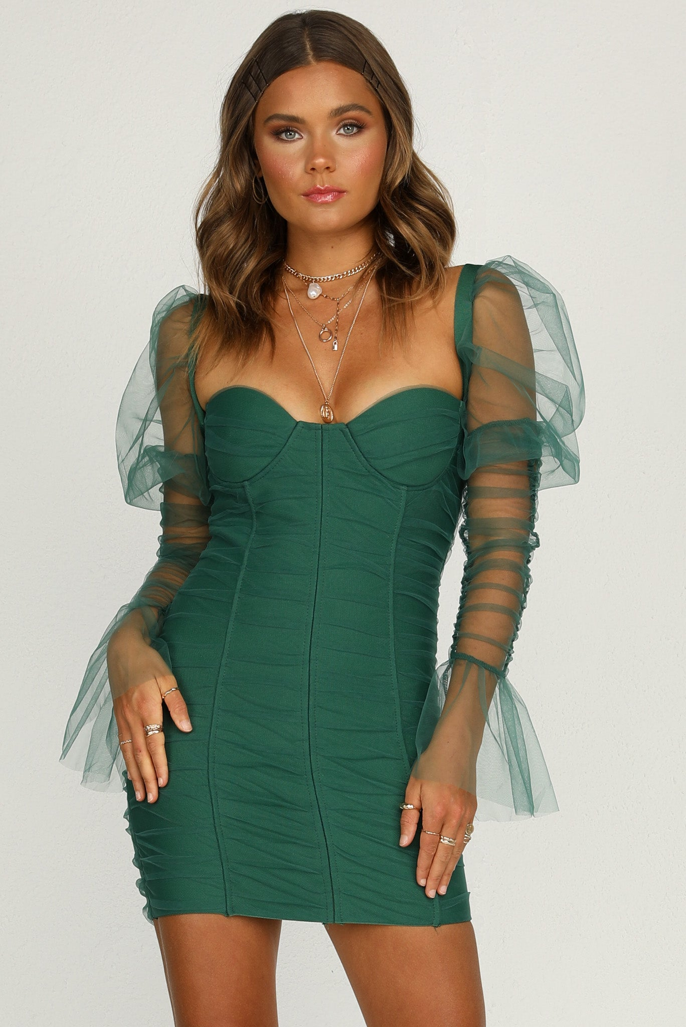Rosalia Dress (Emerald)