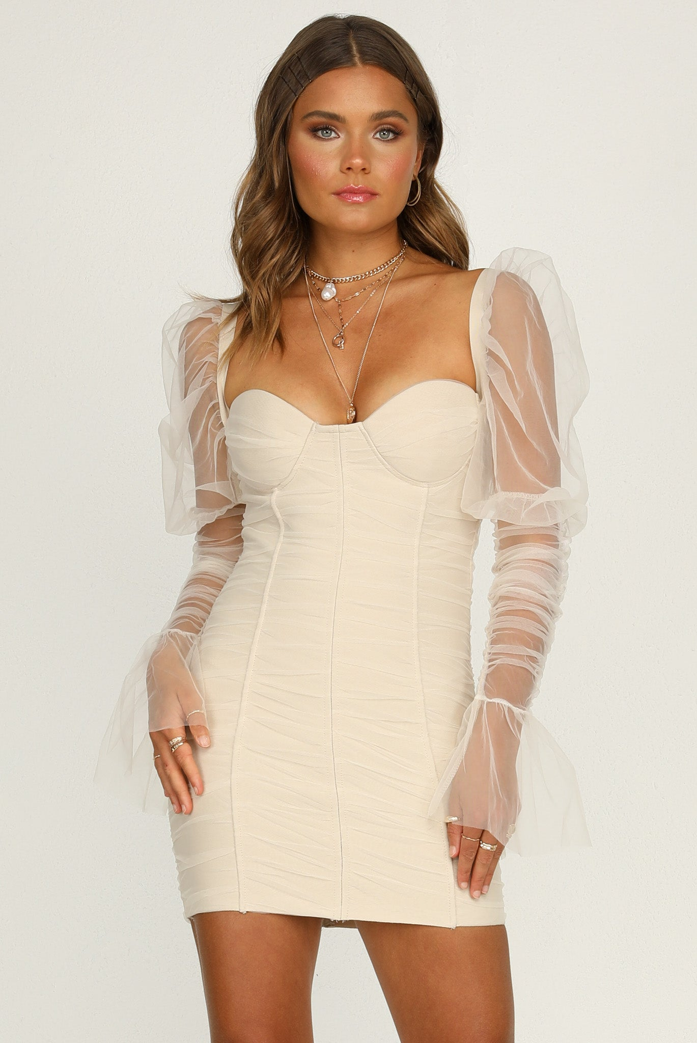 Rosalia Dress (Beige)