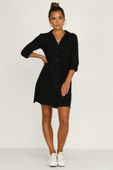 Tarni Shirt Dress (Black)