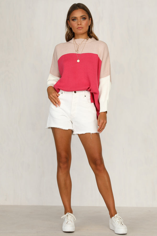 Solitaire Knit (Pink Stripe)