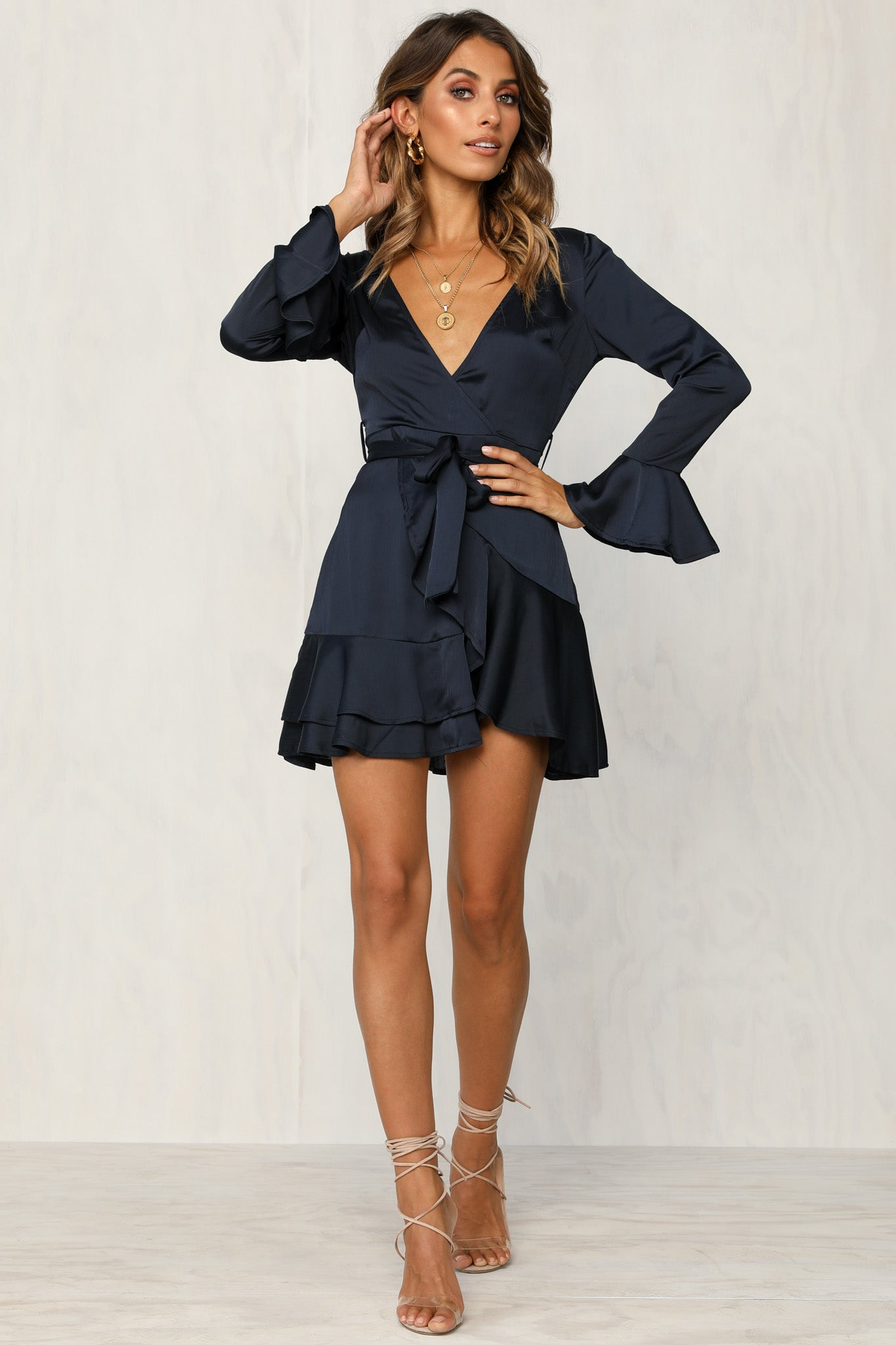 Wild Orchid Dress (Navy)