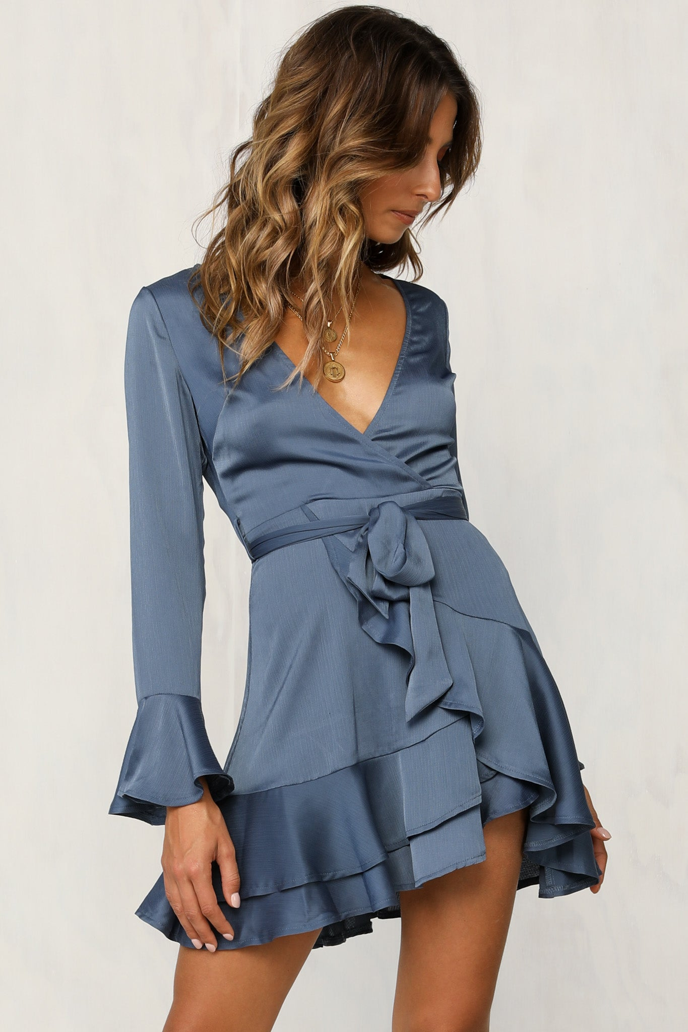 Wild Orchid Dress (Sky Blue)