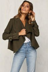 Green Light Coat (Khaki)