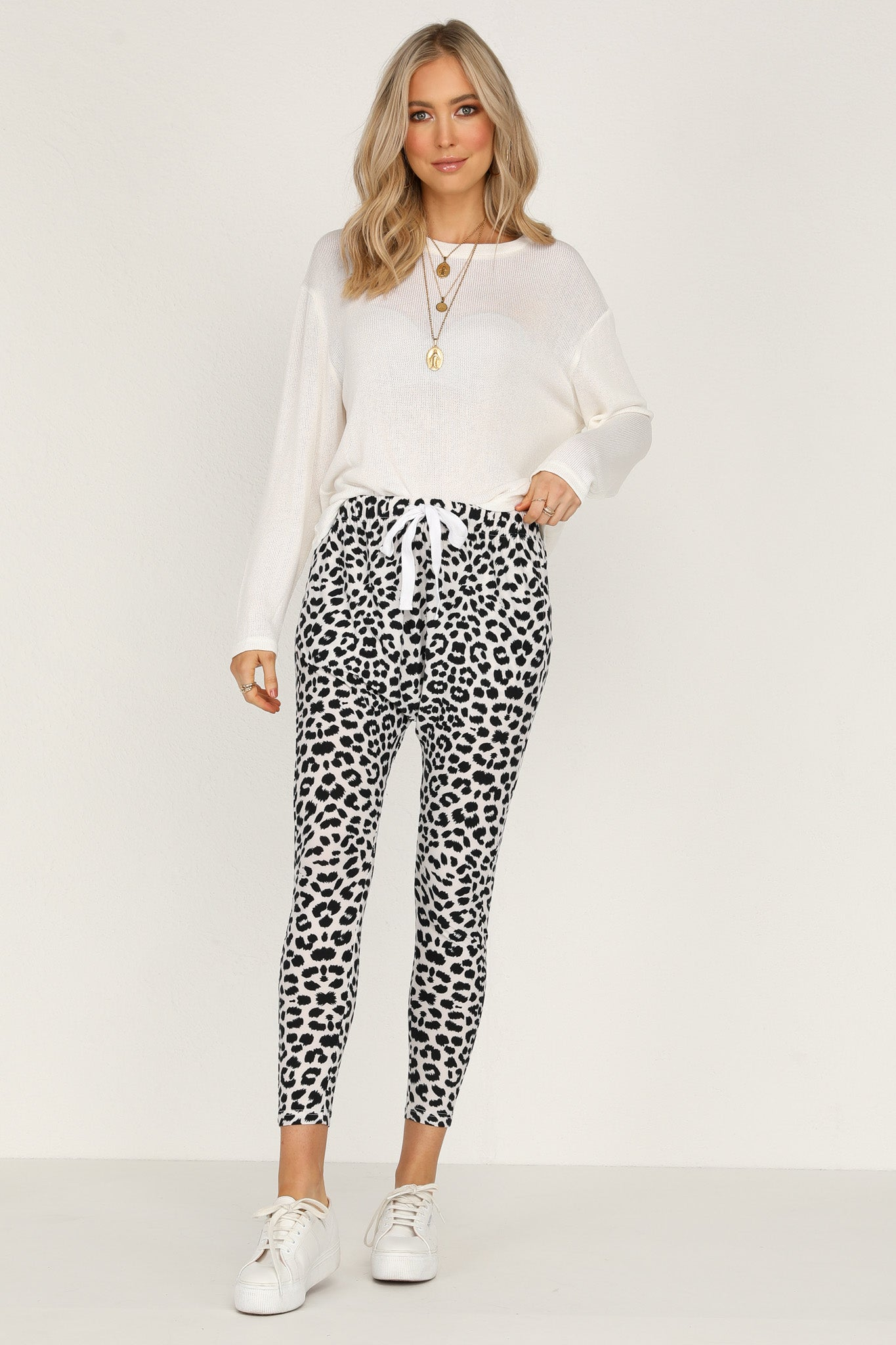 Sasha Pants (White Leopard)