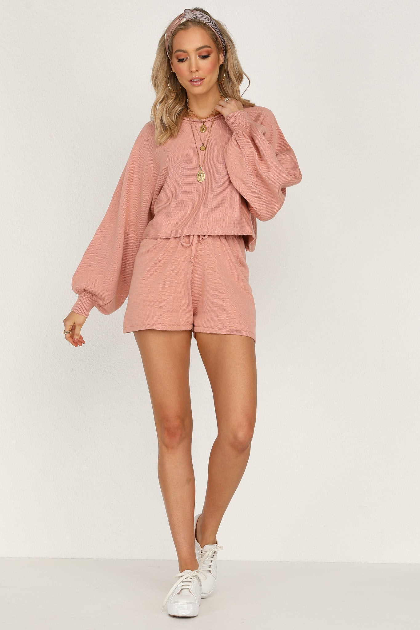 Chantelle Knit Shorts (Rose)