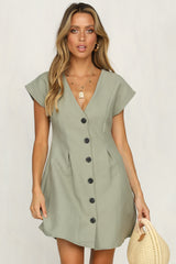 Hearts Flutter Dress (Moss)
