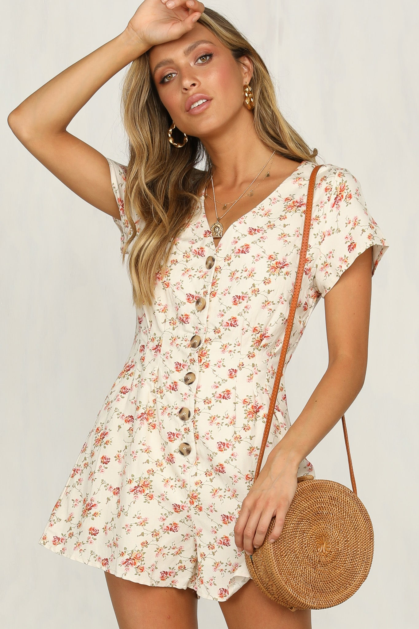 4186149410 Natural Flair Playsuit (Floral) – RunwayScout