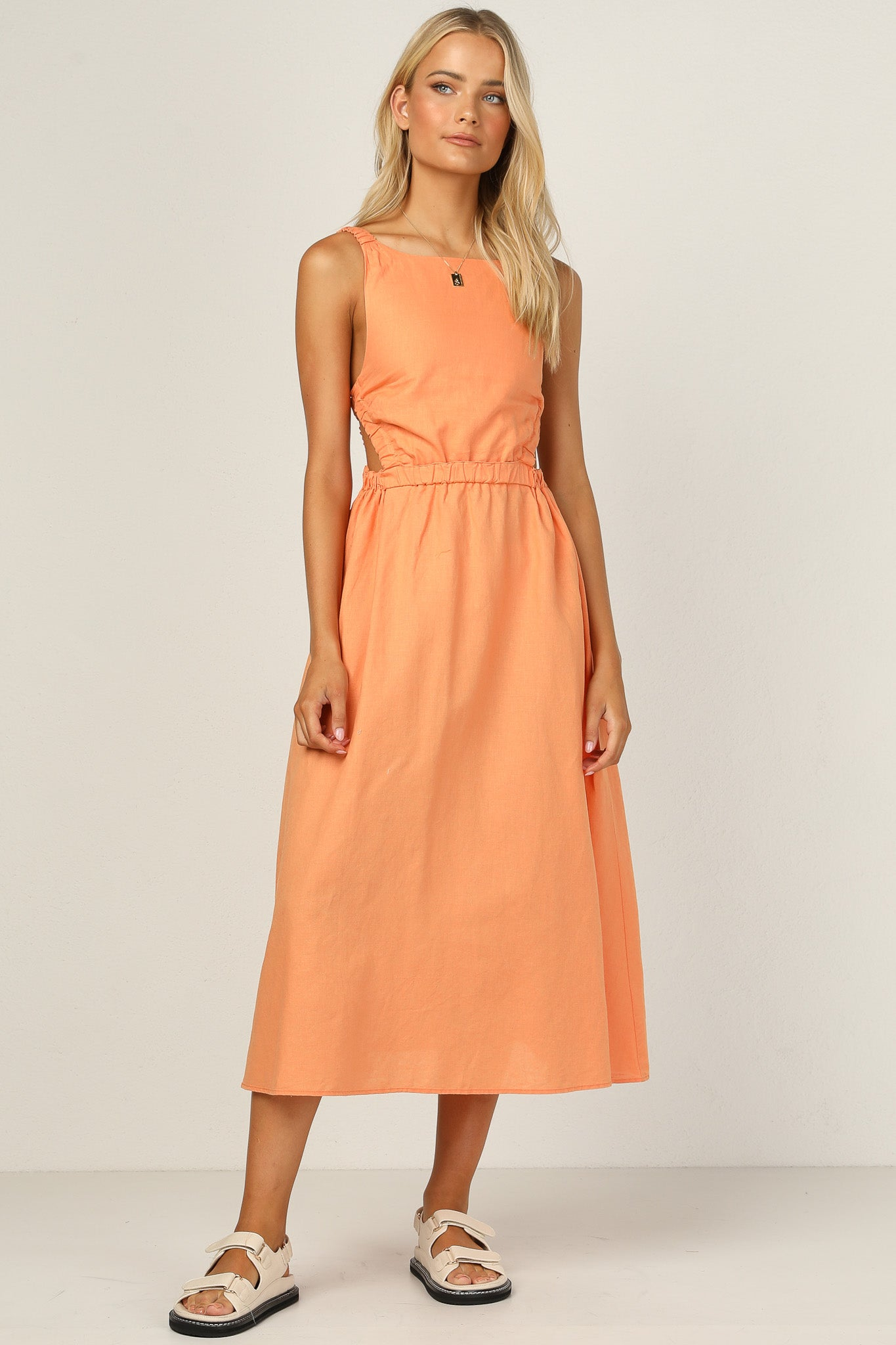 Harper Dress (Tangerine)