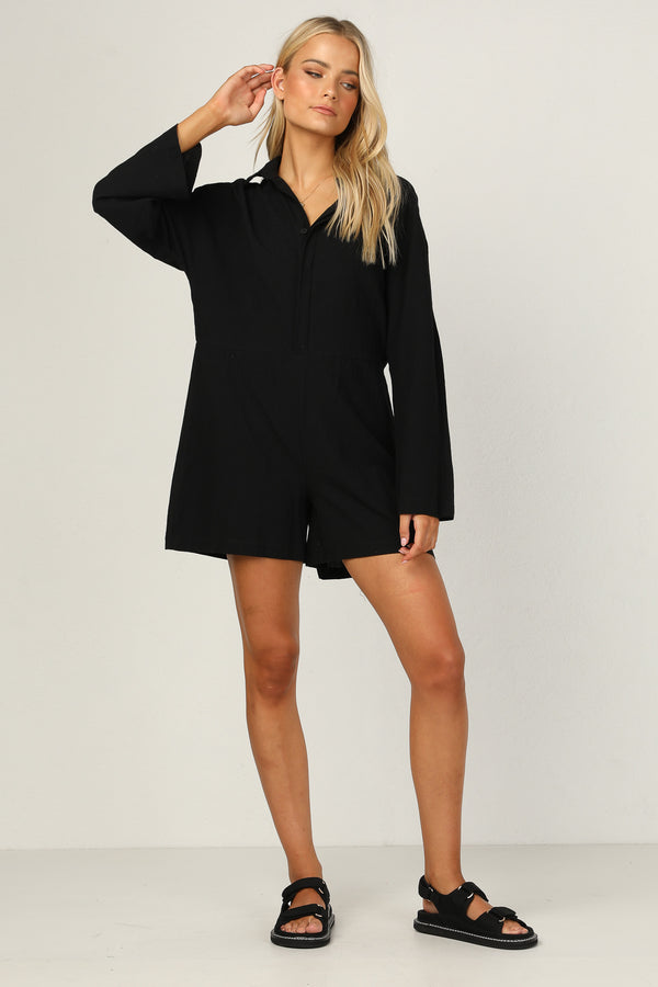 Atlas Playsuit (Black)