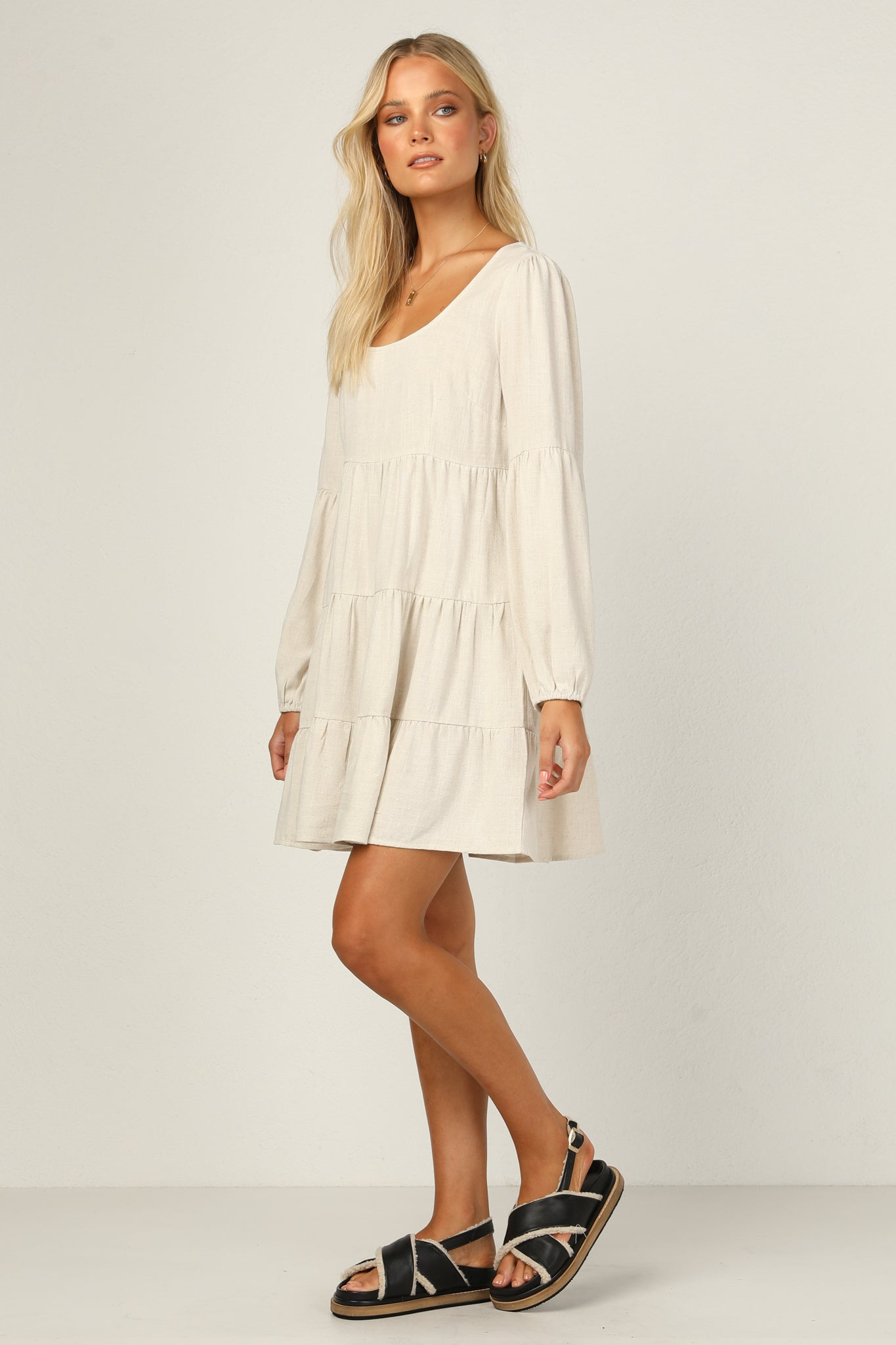 Janise Dress (Beige)