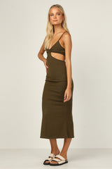 Carmen Dress (Khaki)