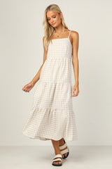 Reese Dress (Beige Gingham)