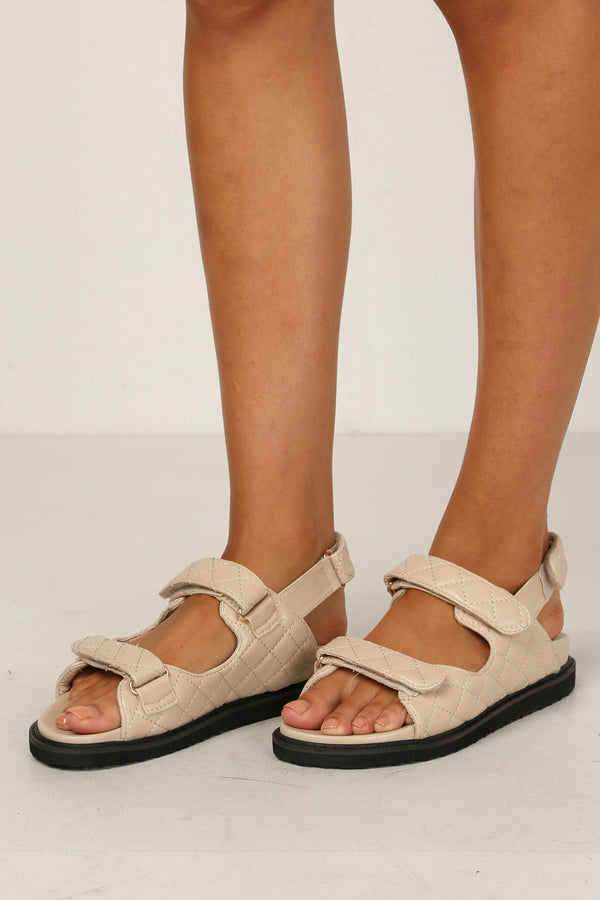 Zora Sandal (Light Taupe)