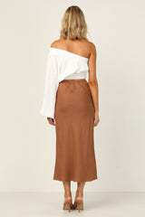 Maggie Midi Skirt (Chocolate)