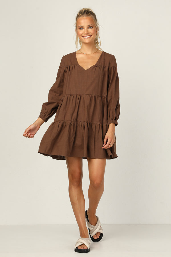 Lucinda Dress (Chocolate)