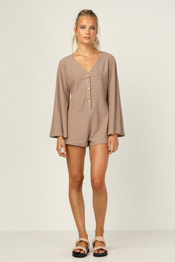 Phoebe Playsuit (Mocha)