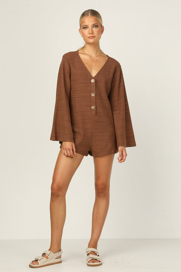 Phoebe Playsuit (Chocolate)