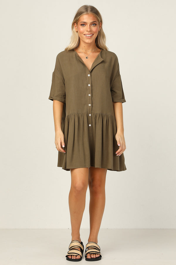 Tabitha Dress (Khaki)