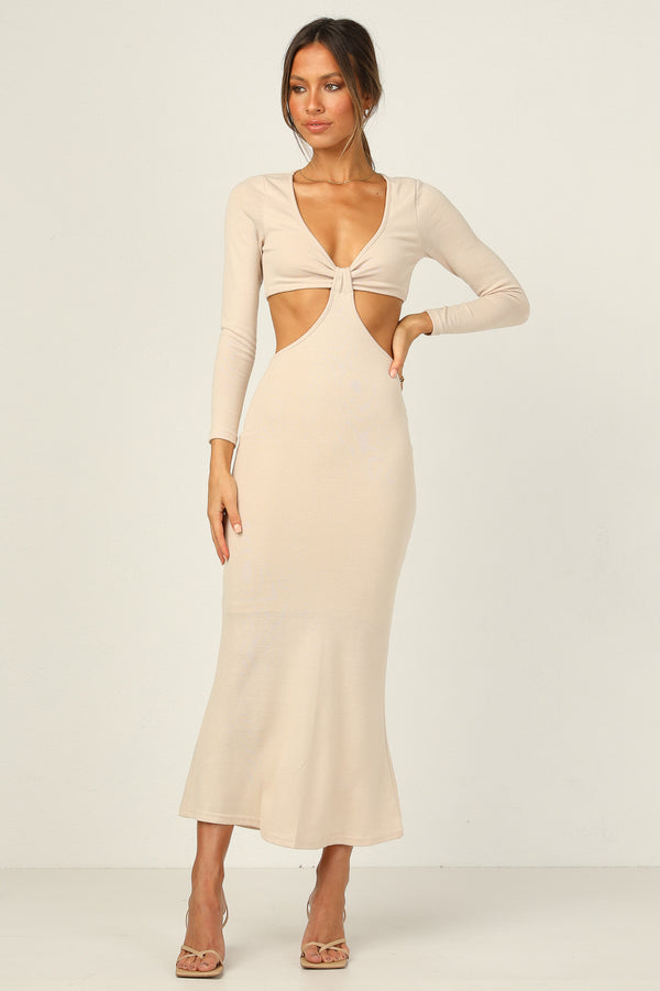 Orla Dress (Beige)