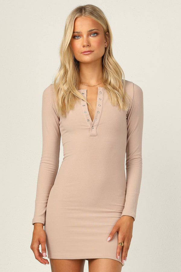 Eva Dress (Beige)