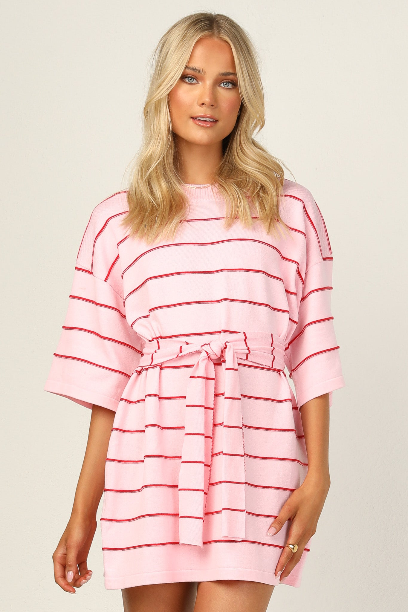 Racquel Knit Dress (Pink)