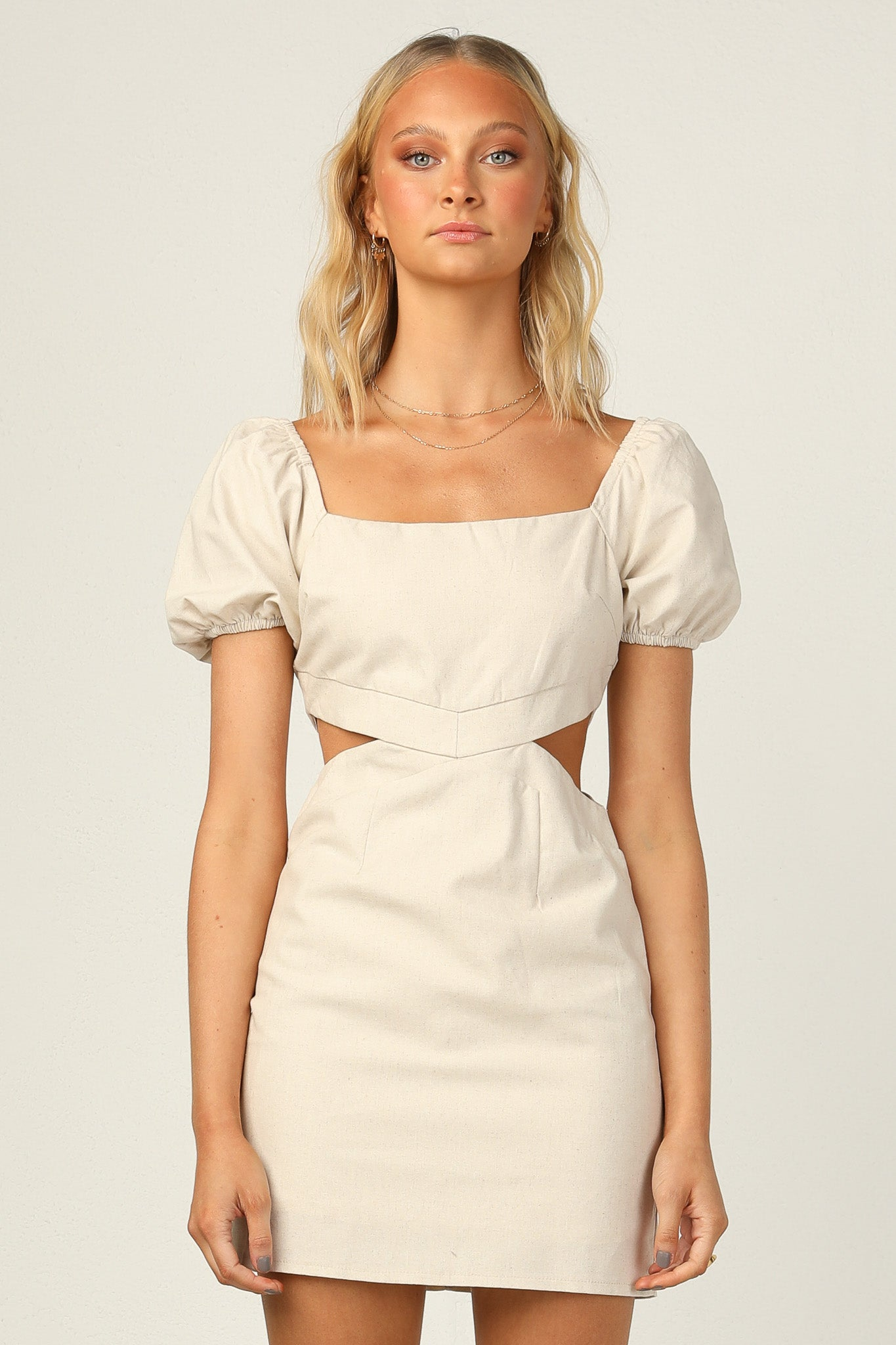 Avery Dress (Beige)