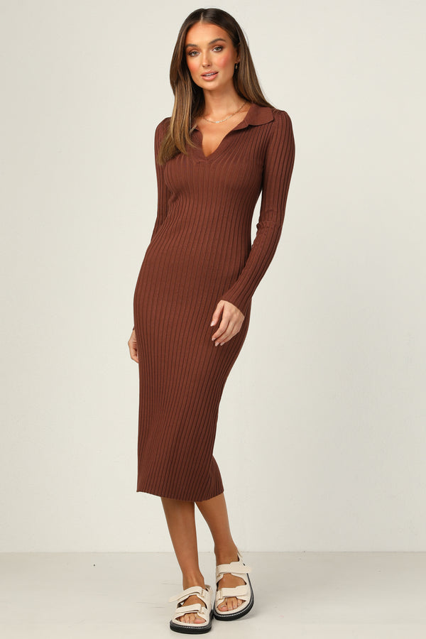 Rory Dress (Chocolate)