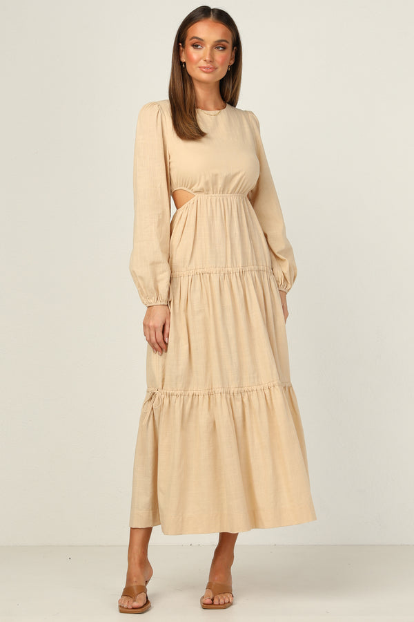 Avaline Dress (Beige)
