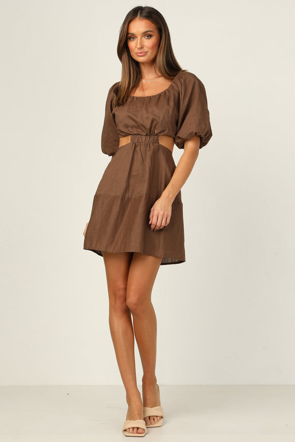 Viktoria Dress (Chocolate)