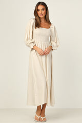 Paros Dress (Beige)
