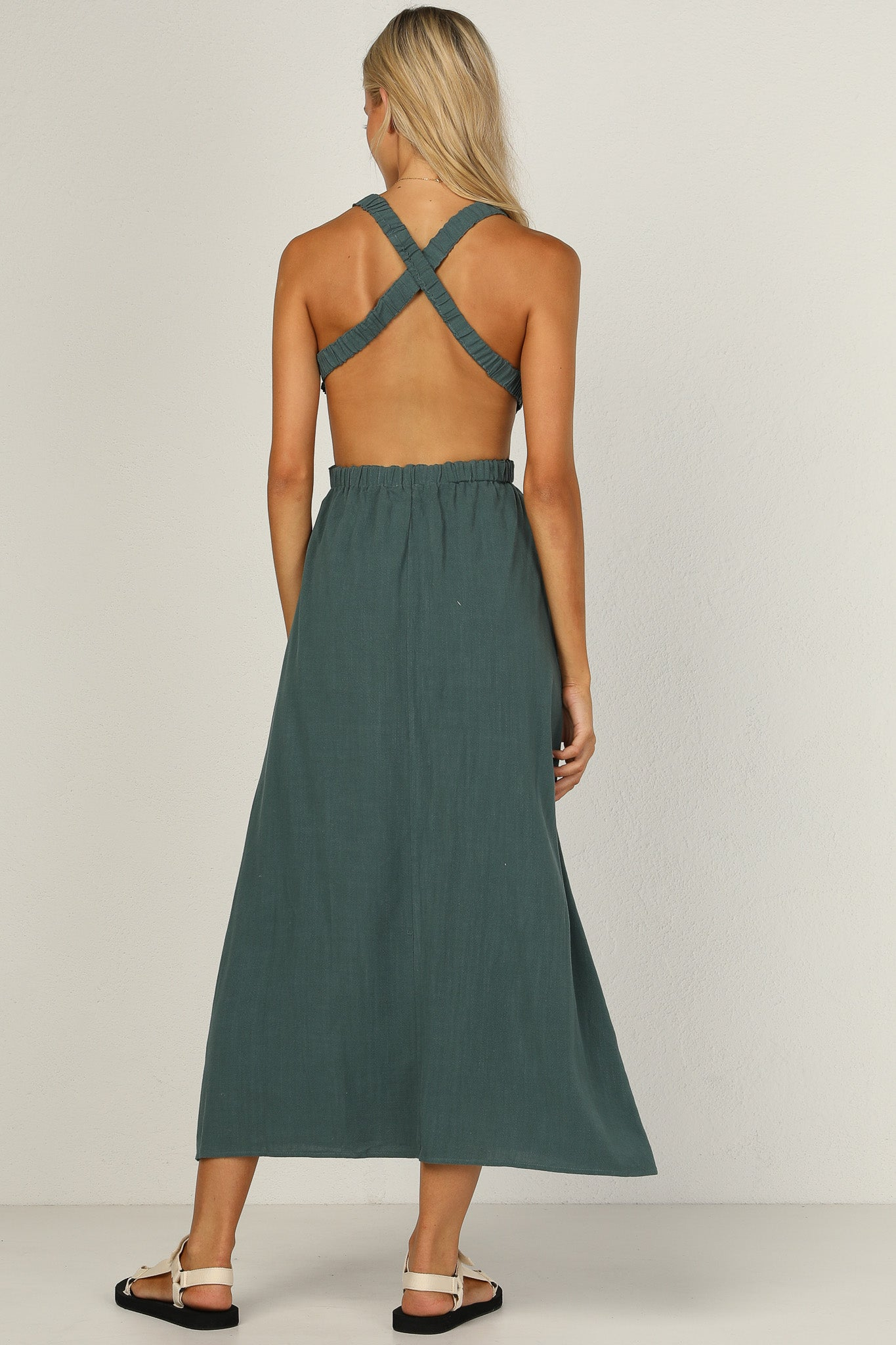Evelyn Dress (Forest Green)