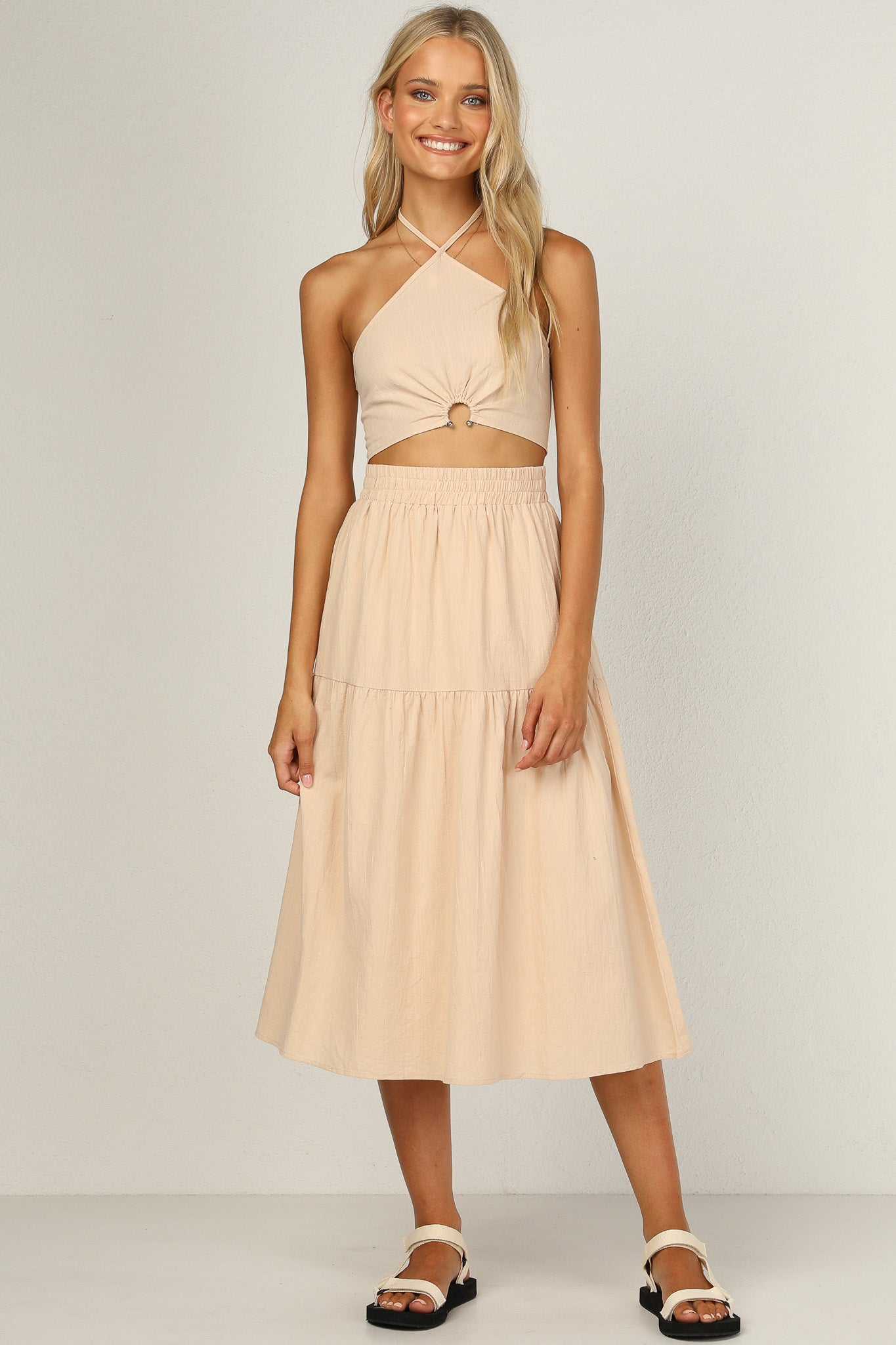 Liberation Midi Skirt (Beige)