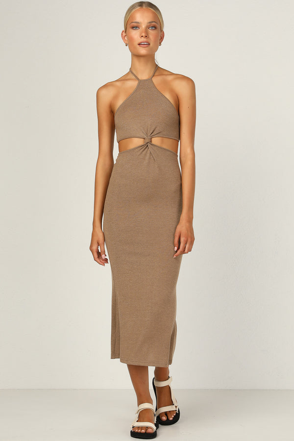 Alessandra Dress (Mocha)