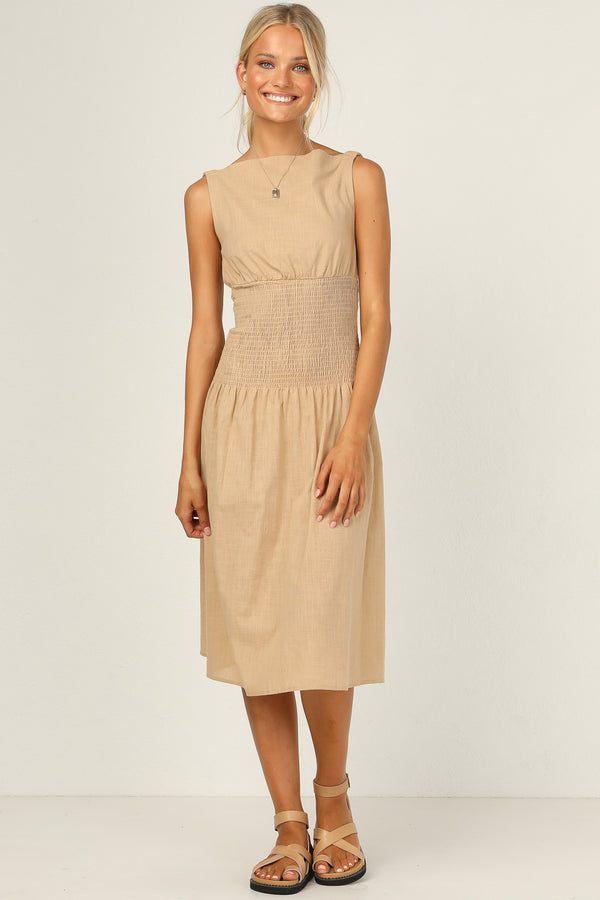 Rogue Dress (Beige)