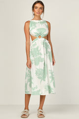 Fallon Dress (Green Floral)
