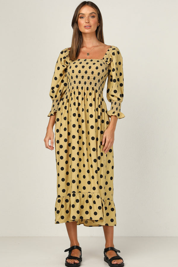 Chloe Dress (Mustard Spot)
