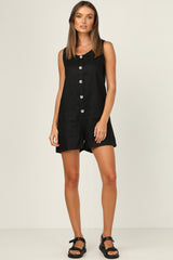 Bordeaux Romper (Black)