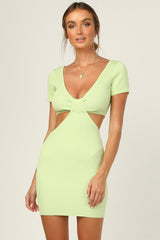 Dominic Knit Dress (Lime)