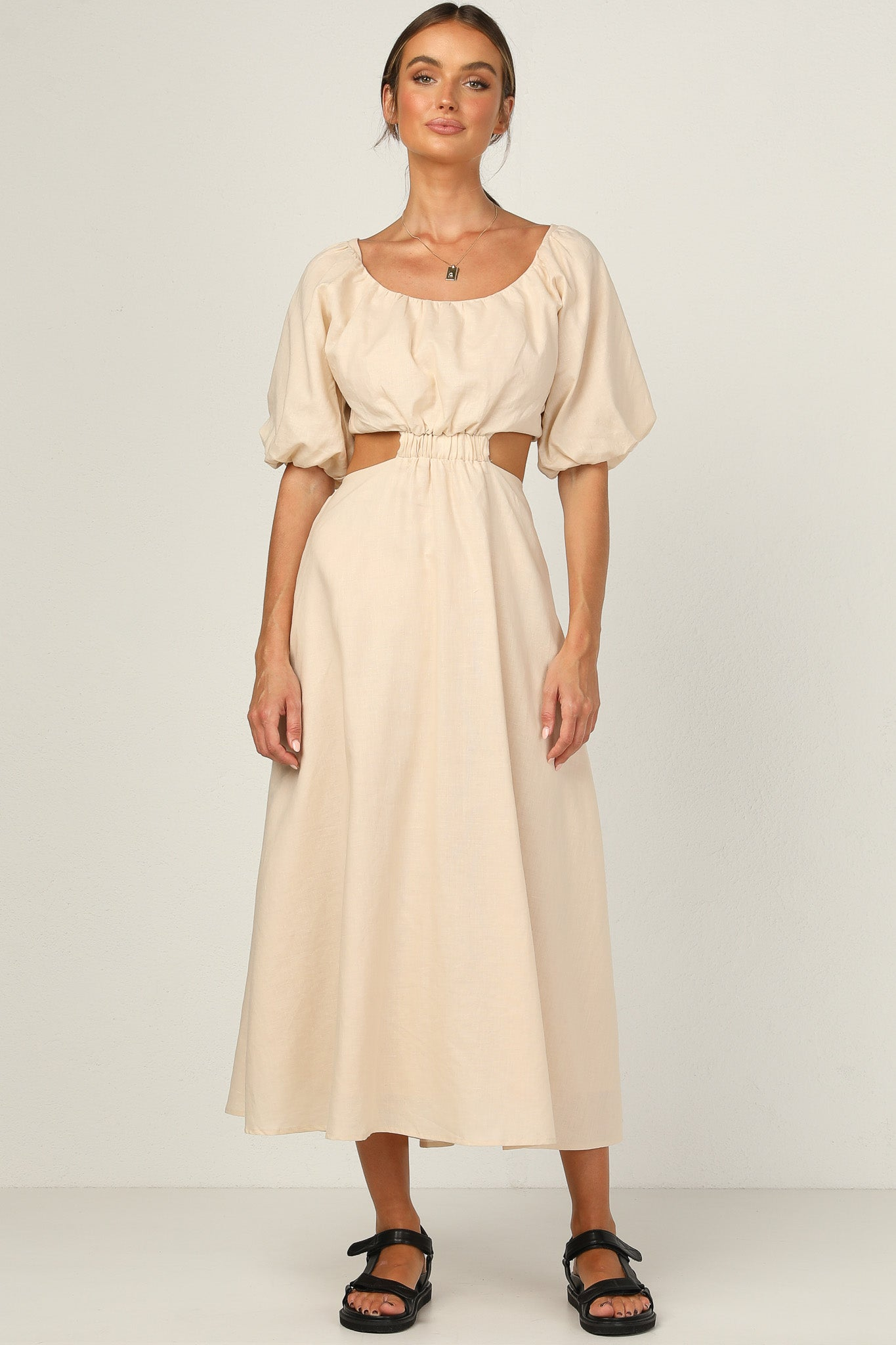 Majella Dress (Beige)