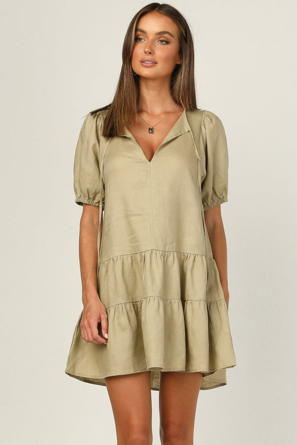 Morgana Dress (Khaki)
