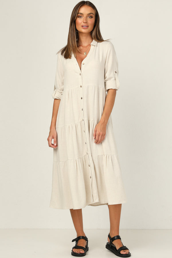Cove Dress (Beige)