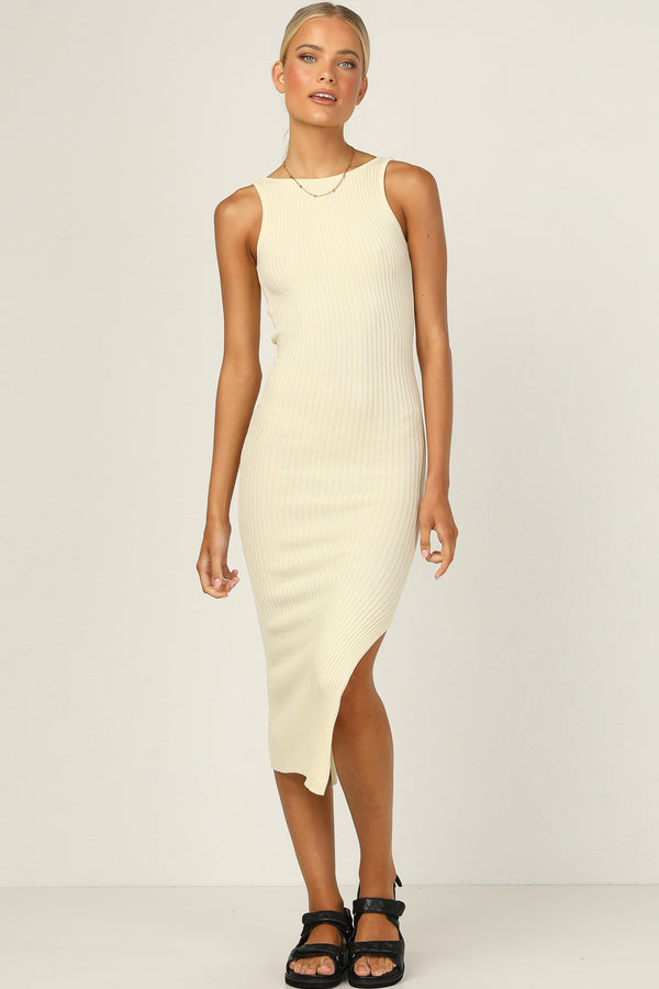 Bella Knit Dress (Butter)