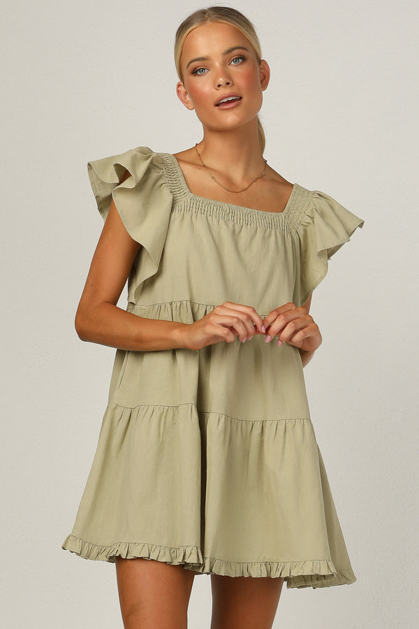 Delmore Dress (Khaki)